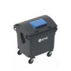Евроконтейнер с круглой крышкой  Ese 1100 л. для бумаги